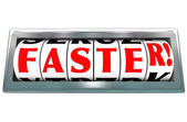 Faster Word Odometer Speed Fast Quick Racing — Stock Photo