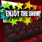 Enjoy the Show Movie Theater Screen Entertainment Fun — Stock Photo
