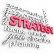 Stock Photo: Strategy Word Collage Planning Goal MIssion