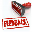 Zdjęcie stockowe: Feeback Stamp Word Approval Opinion Comment Review