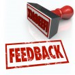 Foto de Stock  : Feeback Stamp Word Approval Opinion Comment Review