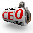 CEO chief executive officer Zoek werving slotmachine — Stockfoto