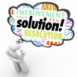 Solution Word Thinker Thought Bubble Problem Solved — Stockfoto #29760403