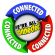 We're All Connected Community Society Arrow Connections Circle — Stock Photo
