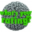 Stock Photo: What's Your Rating Percent Sign Score Percentage