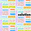Solution Answer Goal Mission Word Background — Stock Photo
