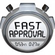 Fast Approval Words Stopwatch Timer Approved Loan Mortgage Credi — Photo