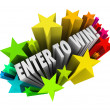 Enter To Win Stars Fireworks Contest Raffle Entry Jackpot — Стоковая фотография