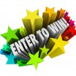Enter To Win Stars Fireworks Contest Raffle Entry Jackpot — Stock Photo