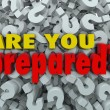Stock Photo: Are You Prepared Question Ready Evaluation Assessment