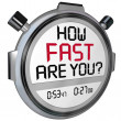 Stock Photo: How Fast Are You Stopwatch Timer Clock