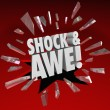 Shock and Awe Words Overwhelming Show of Force Surprise — Foto Stock