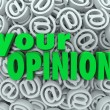 Your Opinion 3D At Email Symbol Background Feedback — ストック写真