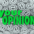 Your Opinion 3D At Email Symbol Background Feedback — Foto de Stock