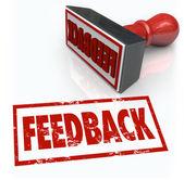 Feeback λέξη σφραγίδα έγκρισης γνώμη σχόλιο κριτική — Φωτογραφία Αρχείου