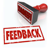 Feeback Stamp Word Approval Opinion Comment Review — Zdjęcie stockowe