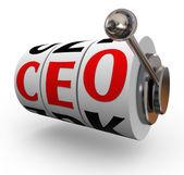 Ceo chief executive officer búsqueda reclutamiento tragaperras — Foto de Stock