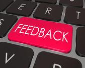 Parere chiave per il tastiera computer parola feedback — Foto Stock