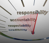 Responsibility Accountability Level Measuring Reputation Duty — Stock Photo