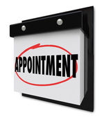 Appointment Reminder on Calendar Schedule — Stock Photo