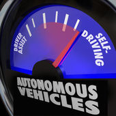 Autonomous Vehicles Self Driving Cars Gauge — Stock Photo
