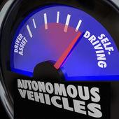 Autonomous Vehicles Self Driving Cars Gauge — Stock Photo