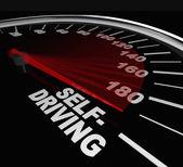 Rise of Self-Driving Autonomous Cars Speedometer Words — Stock Photo