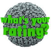 What's Your Rating Percent Sign Score Percentage — Stock Photo