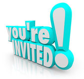 You're Invited 3D Words Invitation Party — Stock Photo
