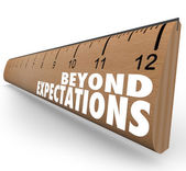 Beyond Expectations Ruler Exceed Results Great Job — Stock Photo