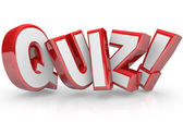 Quiz Red 3D Word Test Exam Assessment — Stock Photo