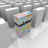 Dallo scaffale soluzione unica prodotto box si distingue meglio — Foto Stock