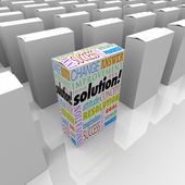 Fuera de la plataforma caja de producto única solución destaca mejor — Foto de Stock