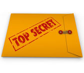 Top Secret Confidential Envelope Classified Information — Stock Photo