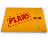 Plans Secret Document Envelope Covert Operations — Stock Photo