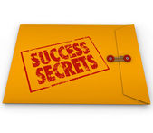 Success Secrets Winning Information Yellow Envelope — Stock Photo