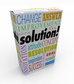 Hors la réponse nouvelle idée étagère solution produit boîte — Photo