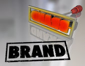Brand Word Branding Iron Marketing Product Ownership — Stock Photo