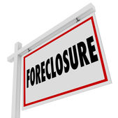 Foreclosure For Sale Real Estate Home Bank Default Mortgage — Stock Photo