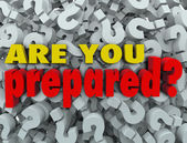 Are You Prepared Question Ready Evaluation Assessment — Stock Photo