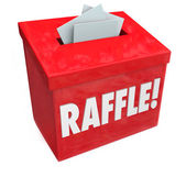 50-50 Raffle Enter to Win Box Drop Your Tickets — Stock Photo