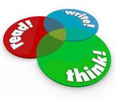 Read Write Think Venn Diagram Cognitive Learning Development — Stock Photo