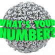 What's Your Number Question Sphere Credit Score Budget Limit — Foto Stock #31284355