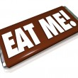 Eat Me Candy Bar Wrapper Offensive Insult Phrase — Stock Photo #31284481