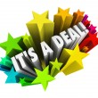 It's a Deal Fireworks Sold Contract Successful Sale — Stock Photo