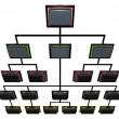 Stock Photo: Briefcase Organization Chart Network Top Sellers Performers