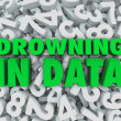 Drowning in Data Too Much Overwhelming Information — Stock Photo