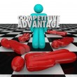 Competitive Advantage People Winner Stands Alone — Stok fotoğraf