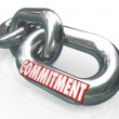 Commitment Word Chain Links Promise Loyalty — Stock Photo