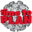 Time to Plan Clock Sphere Planning for Goal Achievement — Stockfoto